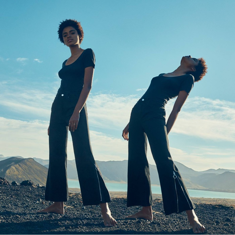 H&M Cotton Top and High Waist Culottes