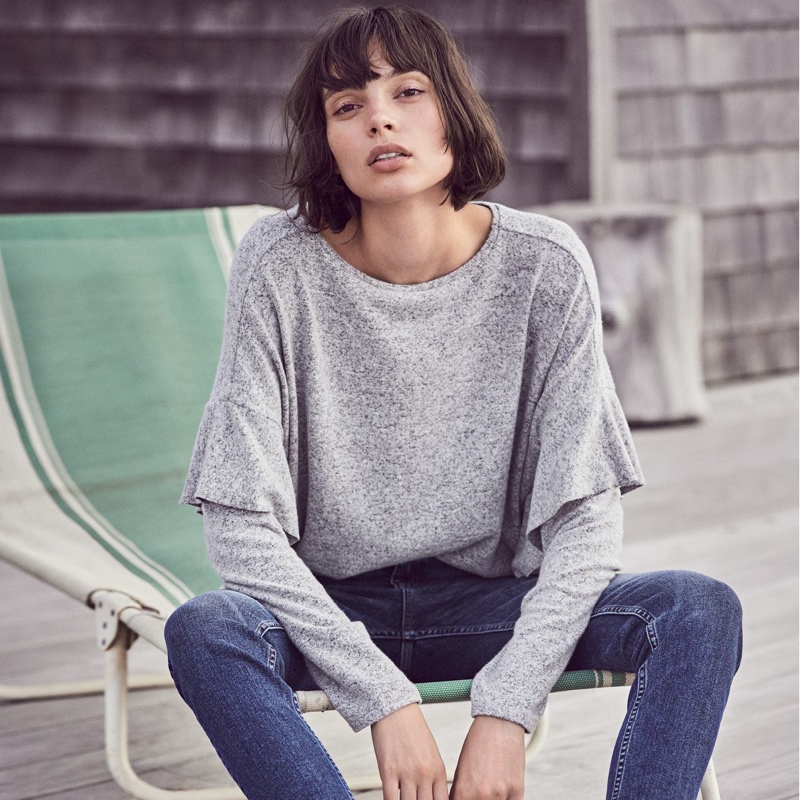 H&M Fine-Knit Sweater and Slim Ankle High Jeans