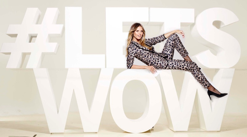 The Esmara by Heidi Klum campaign features the hashtag #LETSWOW