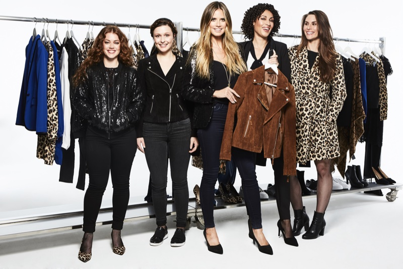 Heidi Klum shows off her designs for new clothing line Esmara by Heidi Klum