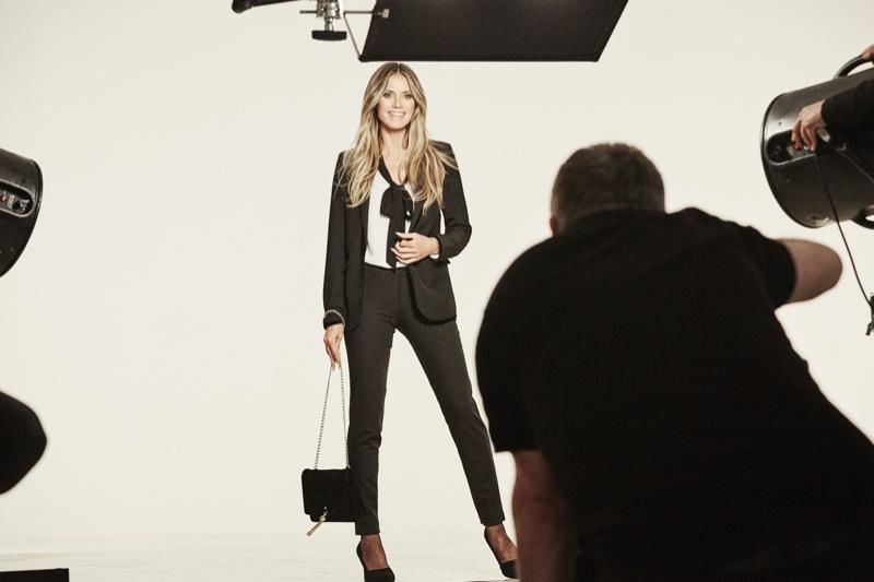 Heidi Klum behind the scenes on set for the Esmara by Heidi Klum campaign