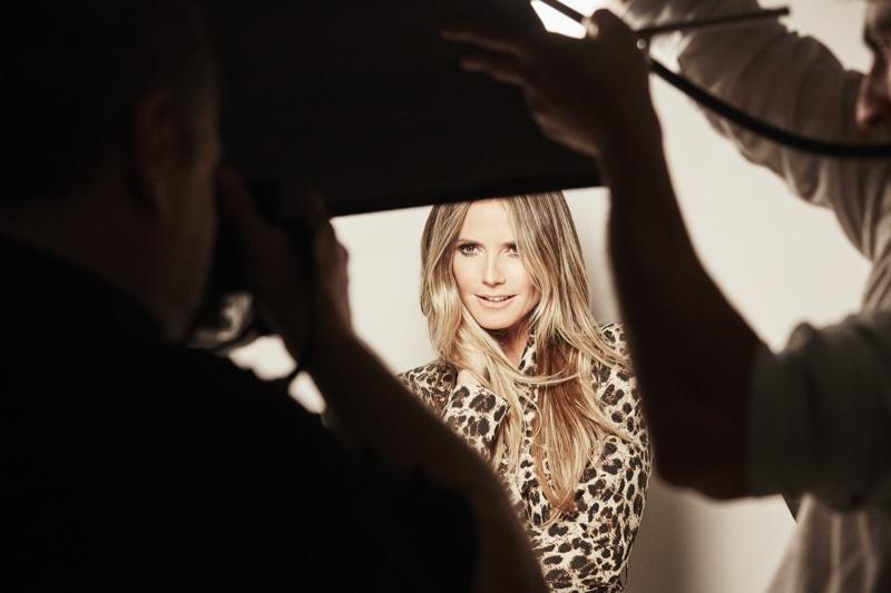 Model Heidi Klum behind-the-scenes at Esmara by Heidi Klum campaign