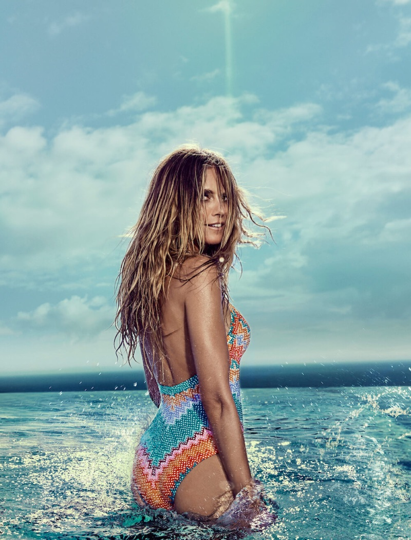 Supermodel Heidi Klum poses in Santa Monica, California, for new swimsuit campaign