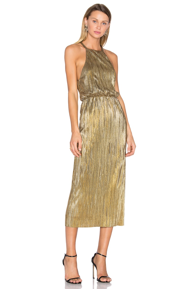 House of Harlow 1960 x REVOLVE Farrah Gold Dress $180