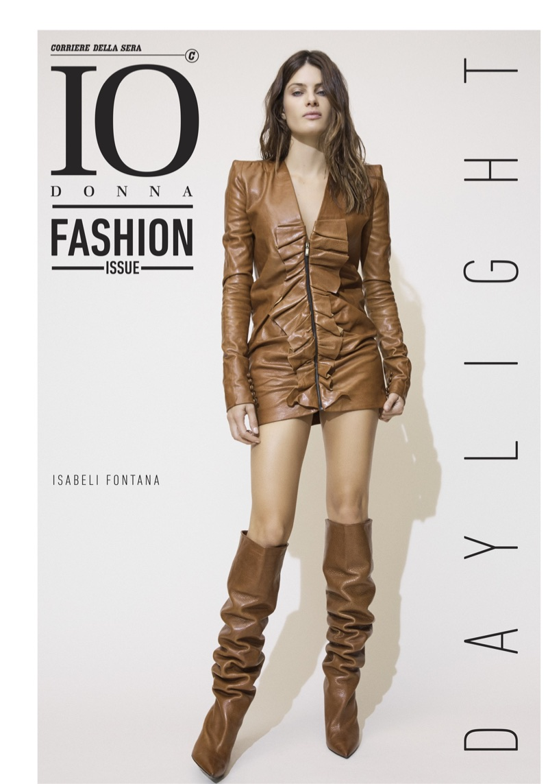 Isabeli Fontana Poses in Day & Night Looks for Io Donna