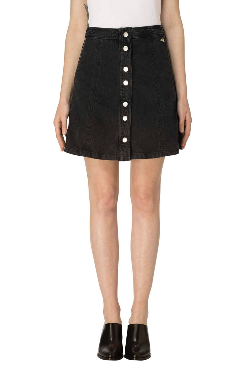 J Brand x Bella Freud Nashville Button Front Skirt Overthrow $248