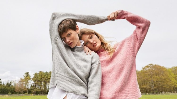 (Left) J. Crew The 1988 Italian Cashmere Rollneck Sweater, Thomas Mason for J. Crew Boy Shirt, Cameron Slim Crop Pant in Four-Season Stretch (Right) J. Crew The 1988 Italian Cashmere Rollneck Sweater and Cameron Slim Crop Pant in Four-Season Stretch