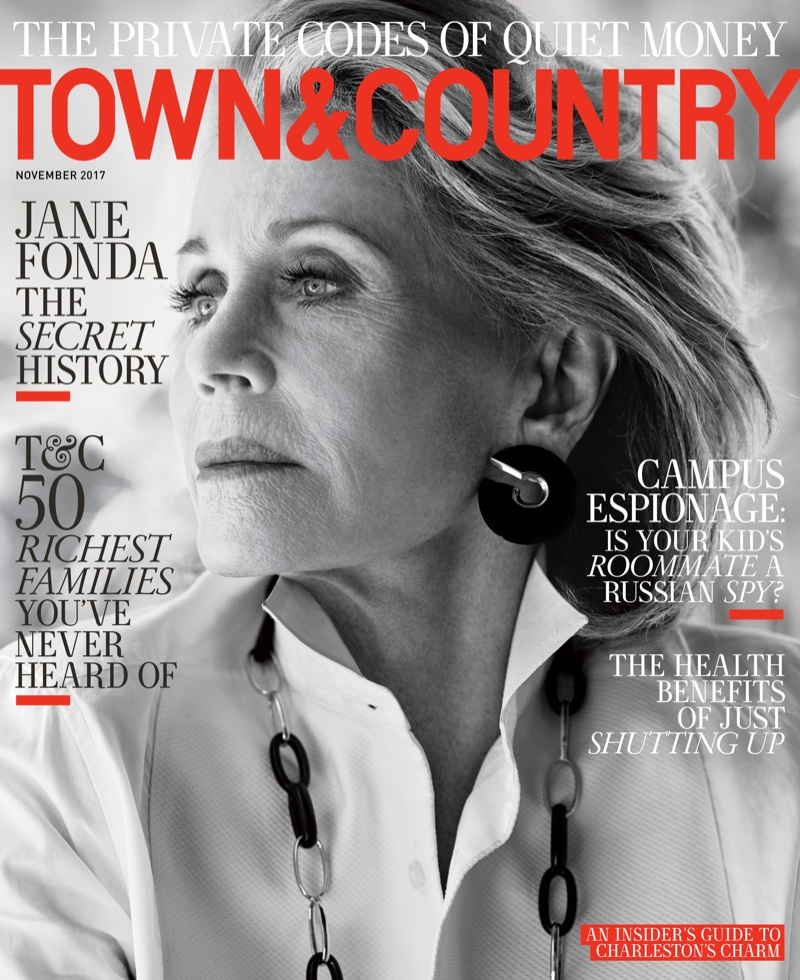 Jane Fonda on Town & Country November 2017 Cover