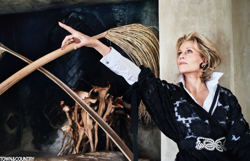 Actress Jane Fonda poses for Town & Country Magazine