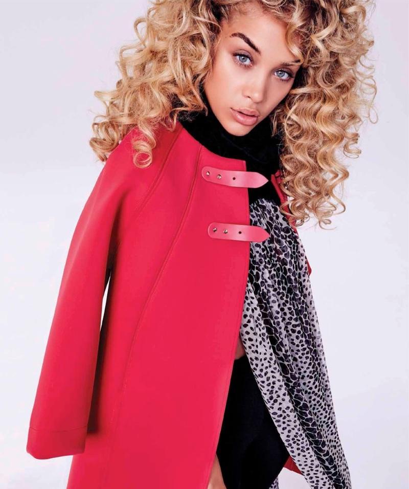 Jasmine Sanders Models Vibrant Styles for Harper's Bazaar Mexico