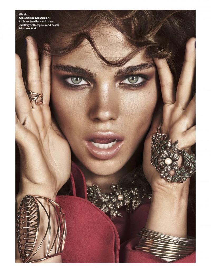 Jena Goldsack Models Super Glamorous Fashion for L'Officiel Singapore