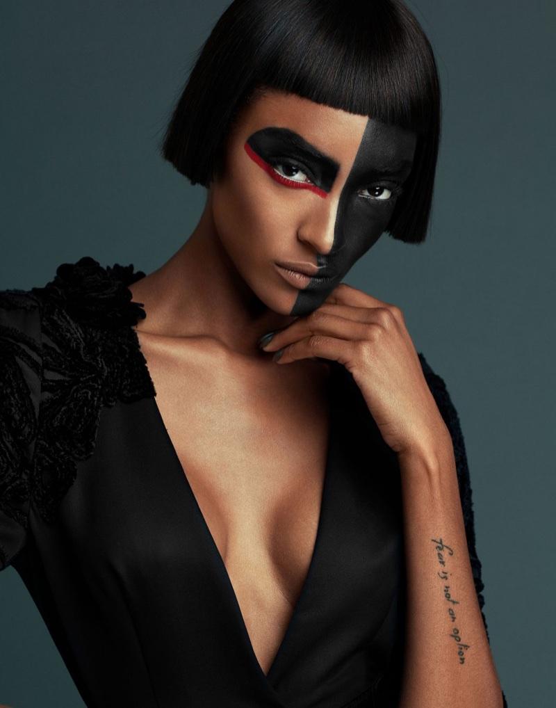 Jourdan Dunn Poses in Fashion Forward Looks for Prestige Hong Kong