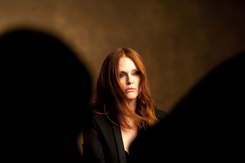 Actress Julianne Moore behind-the-scenes at John Hardy shoot