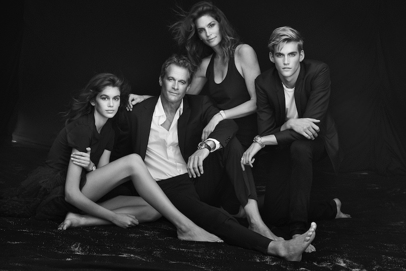 Kaia Gerber, Rande Gerber, Cindy Crawford and Presley Gerber star in OMEGA Watches campaign