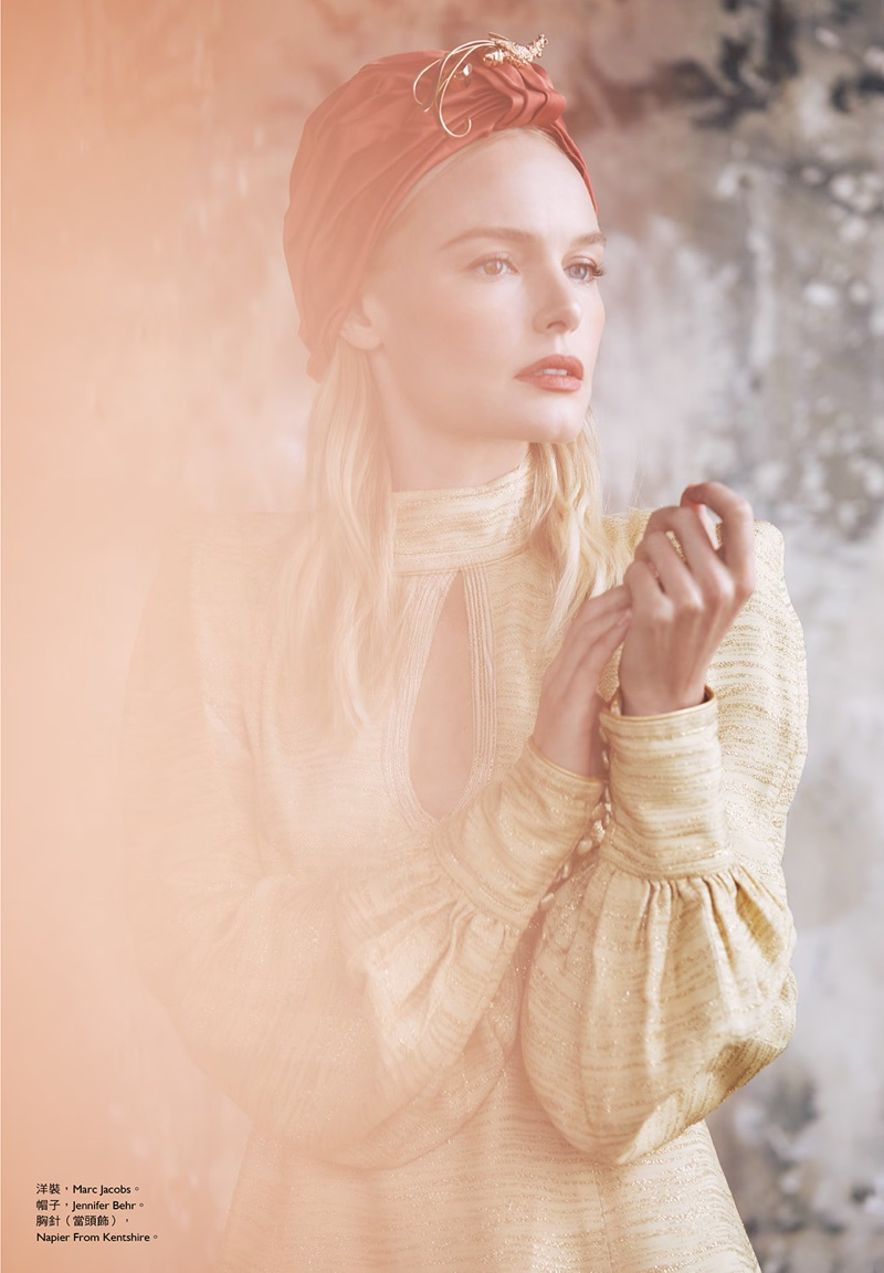 Kate Bosworth poses in Marc Jacobs dress