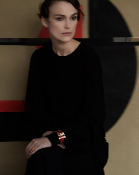An image from Chanel Gallery advertising campaign starring Keira Knightley