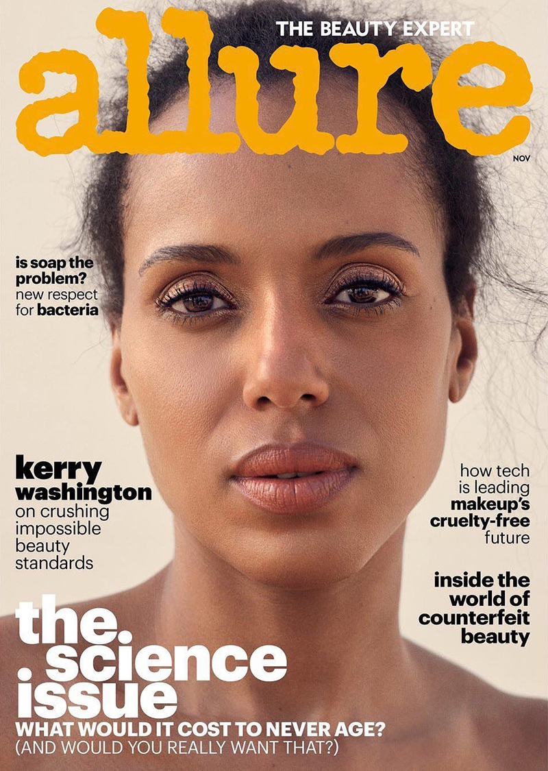 Kerry Washington on Allure Magazine November 2017 Cover