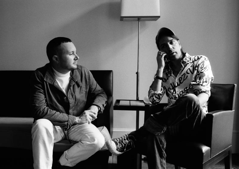 Designer Kim Jones and stylist Alister Mackie by Hugo Scott