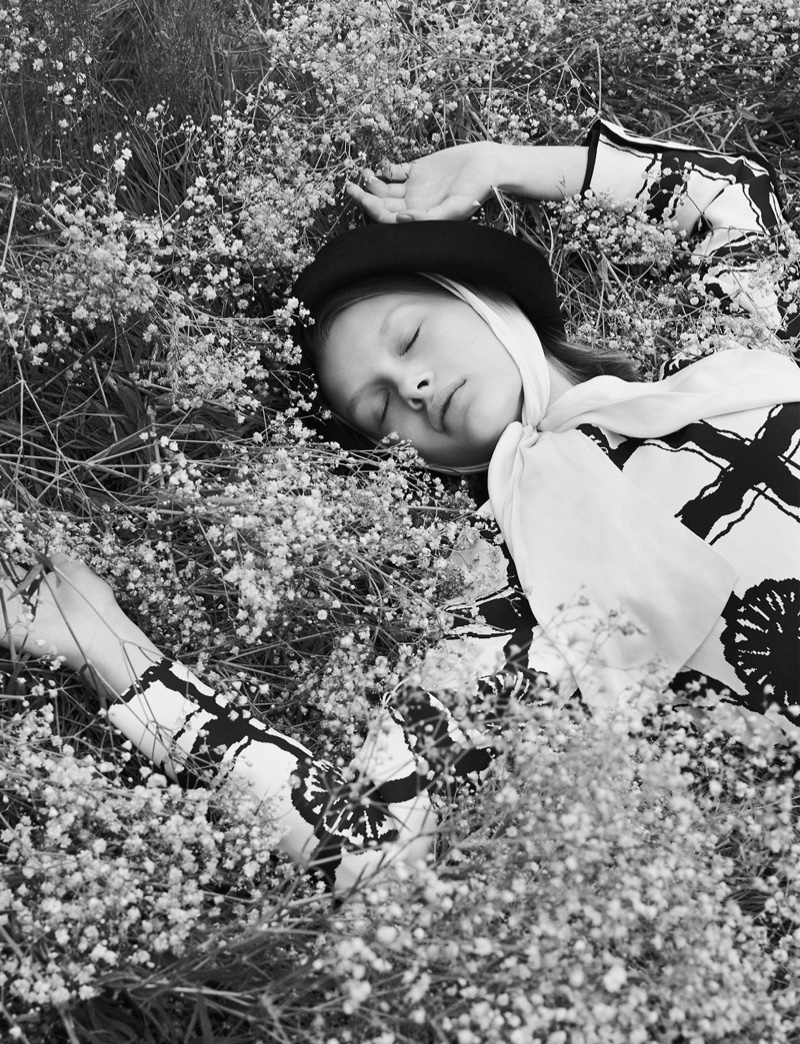 Kris Grikaite is a Nature Girl in Vogue China