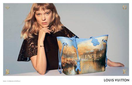 Lea Seydoux Charms in Louis Vuitton x Jeff Koons Campaign