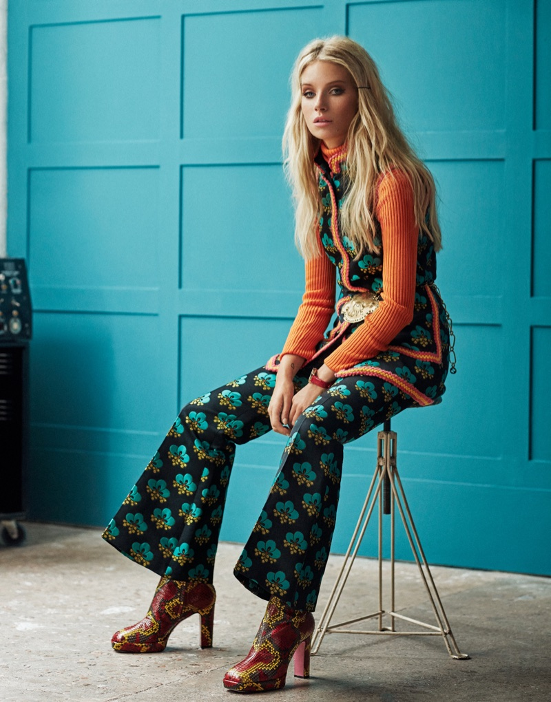Lottie Moss Poses in Retro Inspired Styles for ELLE Russia