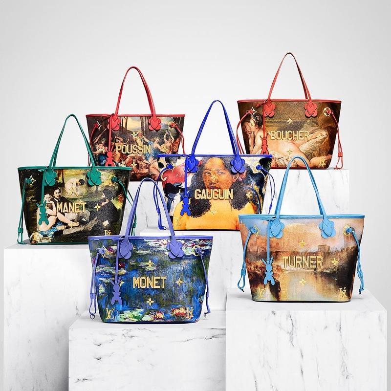 Louis Vuitton x Jeff Koon bags - Poussin, Gauguin, Boucher, Monet, Turner and Manet