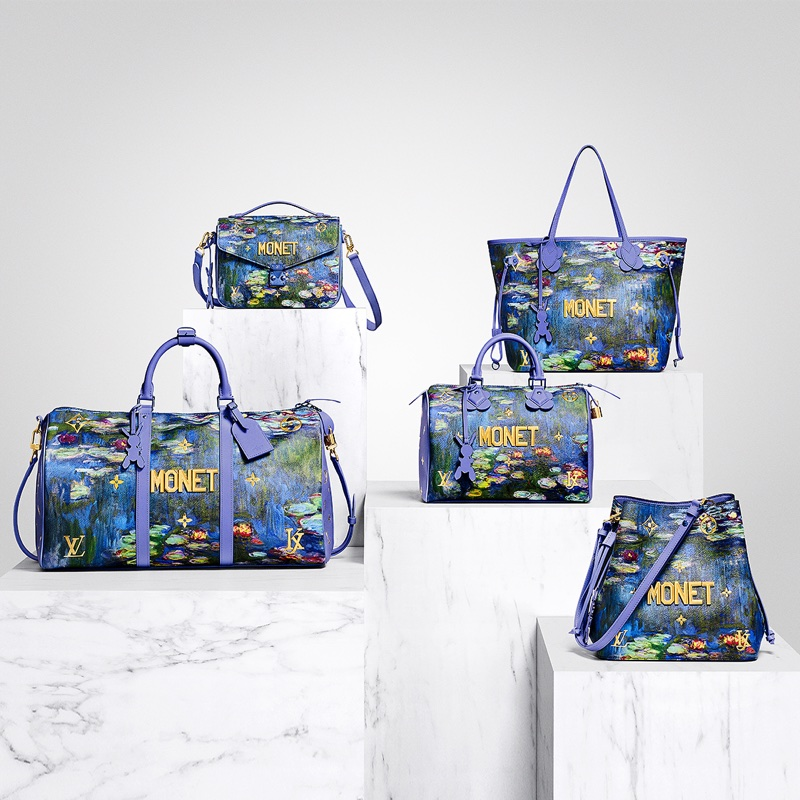 Louis Vuitton x Jeff Koons collaborate on five different versions of the Monet bag