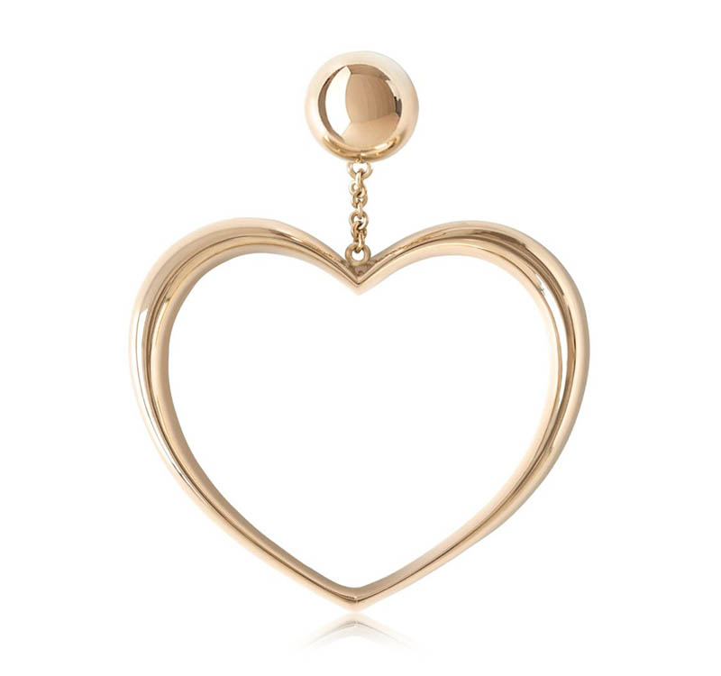Magdalena Frackowiak Jewelry Heart Hoop Earrings $4,928