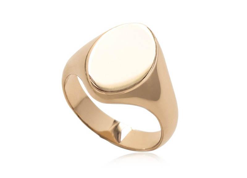 Magdalena Frackowiak Jewelry Oval Signet Ring $1,838