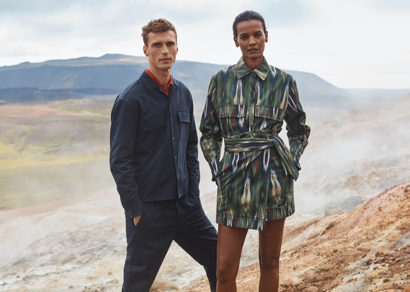 Liya Kebede and Clement Chabernaud star in Mango Committed's fall-winter 2017 campaign