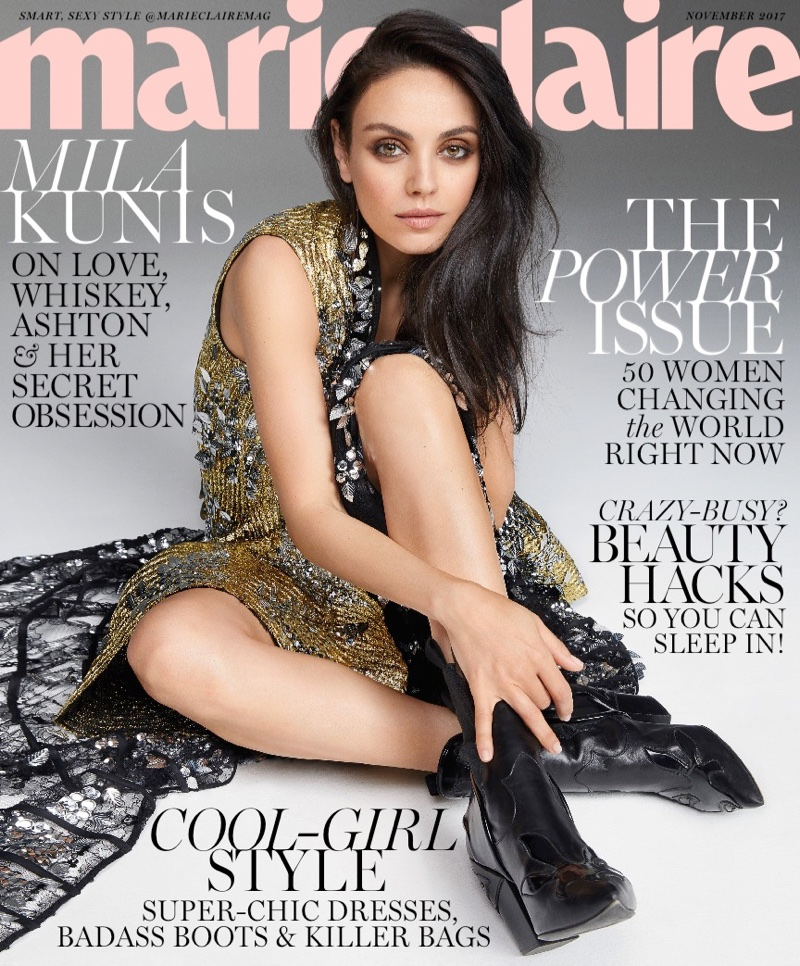 Mila Kunis on Marie Claire November 2017 Cover
