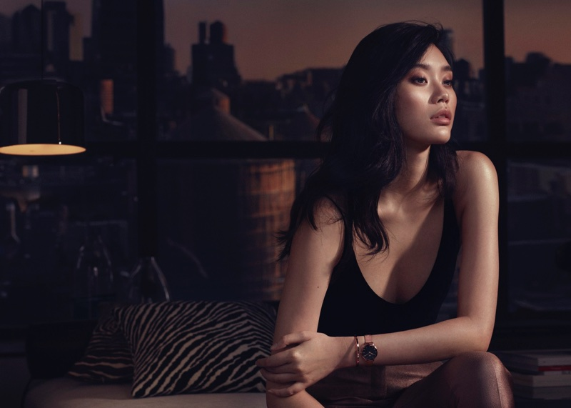 Model Ming Xi fronts Daniel Wellington watch campaign