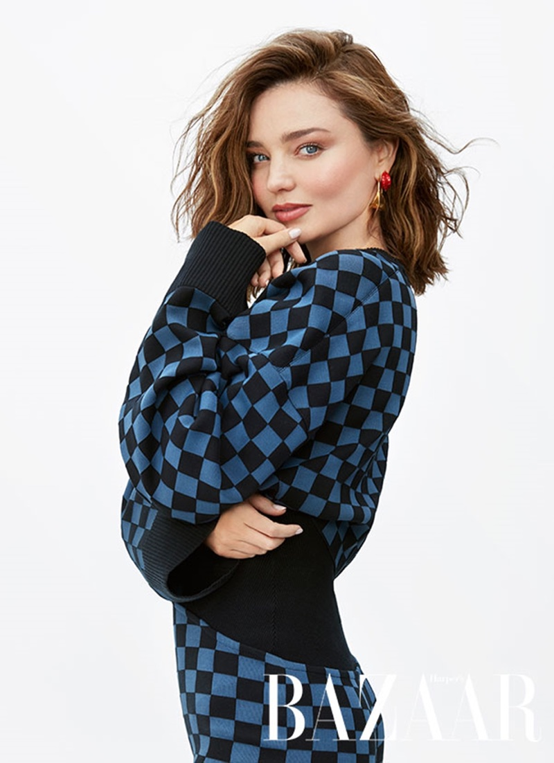 Miranda Kerr Poses with Her Dog Teddy for Harper's Bazaar Australia