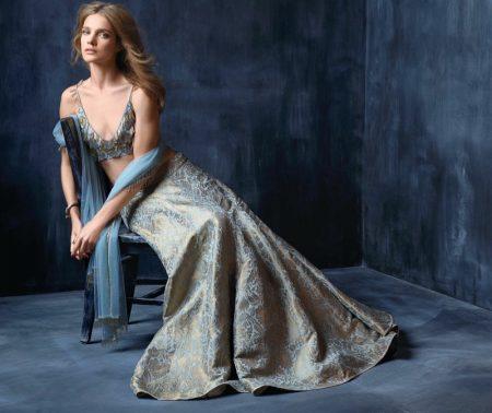 Natalia Vodianova Wears Elegant Ensembles in Vogue India