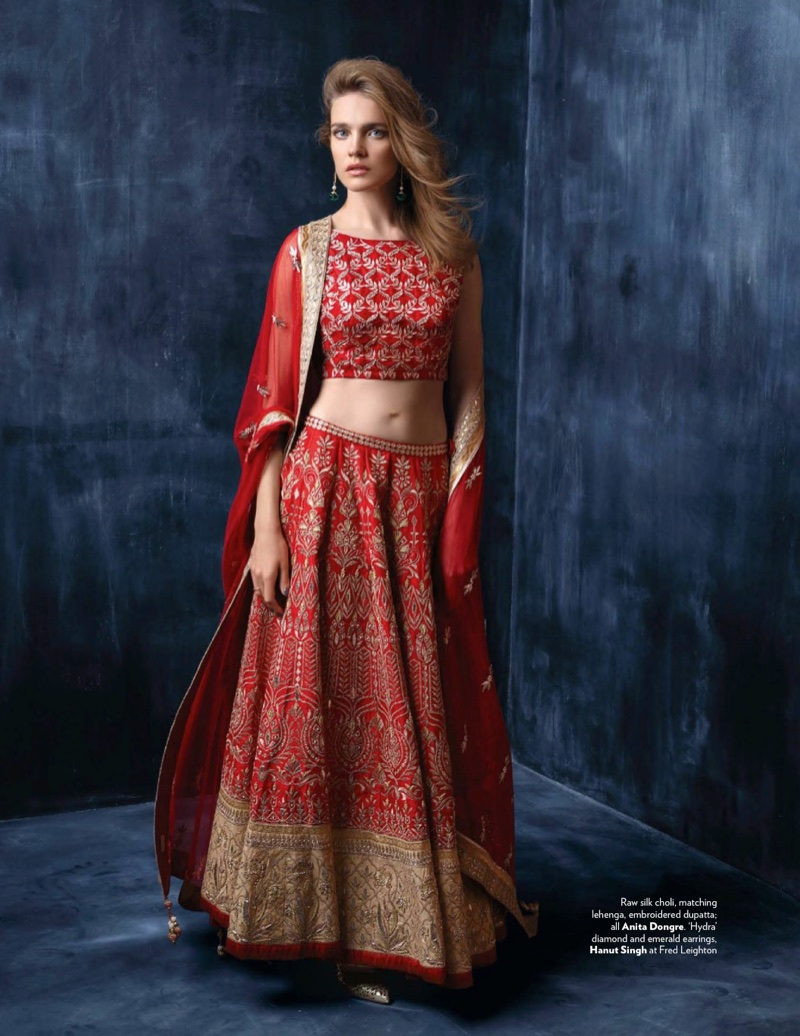 Natalia Vodianova Wears Elegant Ensembles in Vogue India
