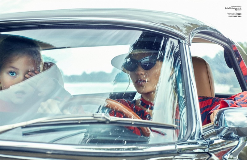 Natasha Poly Poses in Chic Looks for Vogue Netherlands