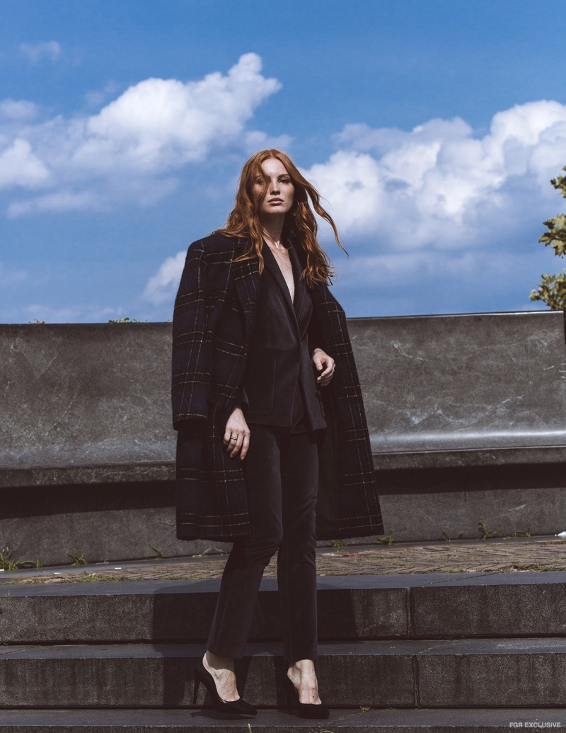 Coat Tibi and Jacket and Pants Rebecca Taylor