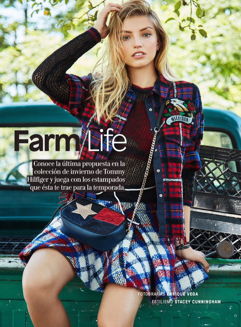 Niamh Adkins Models Tommy Hilfiger's Fall Looks for Glamour Mexico