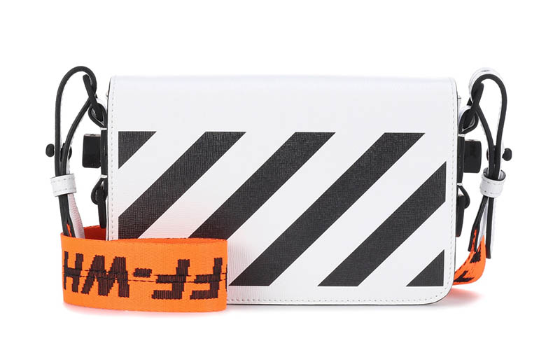 Off-White Binder Clip Leather Shoulder Bag $850