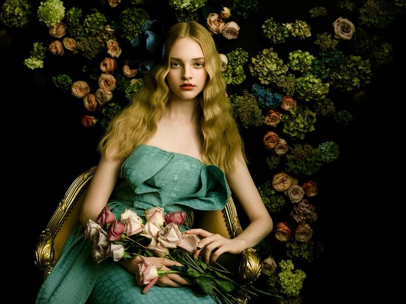 Olivia Hamilton Wears Elegant Dresses In Harper's Bazaar