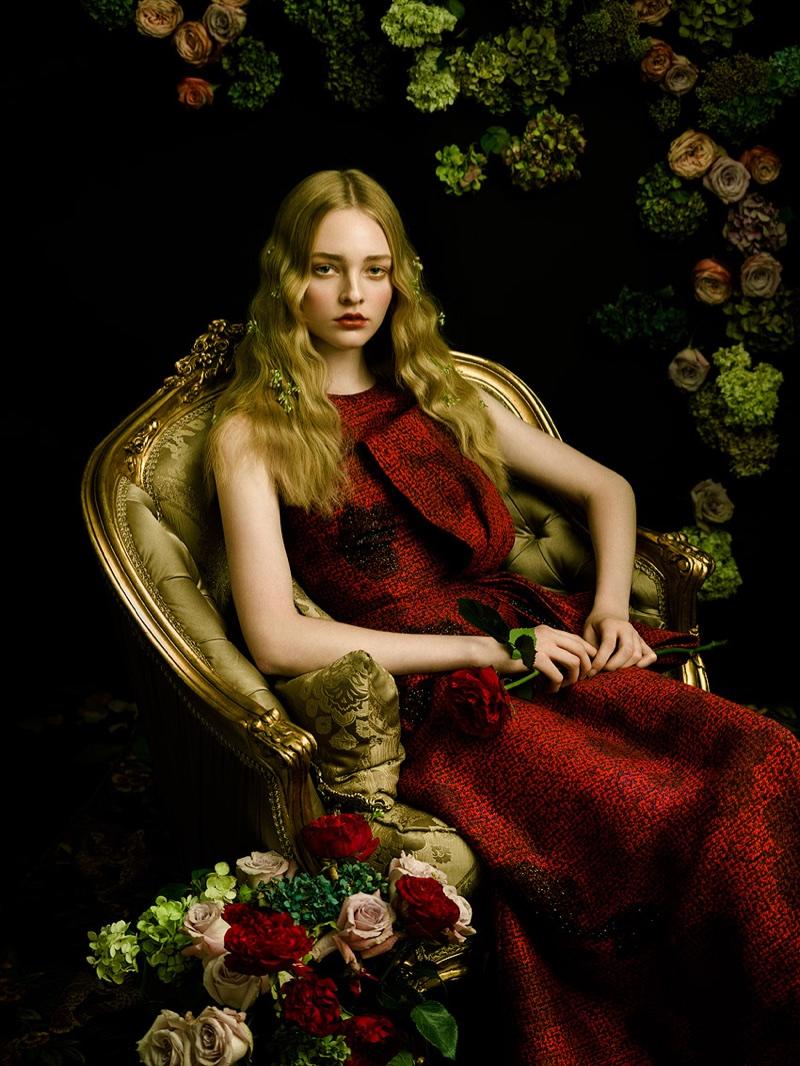 Olivia Hamilton Wears Elegant Dresses In Harper S Bazaar