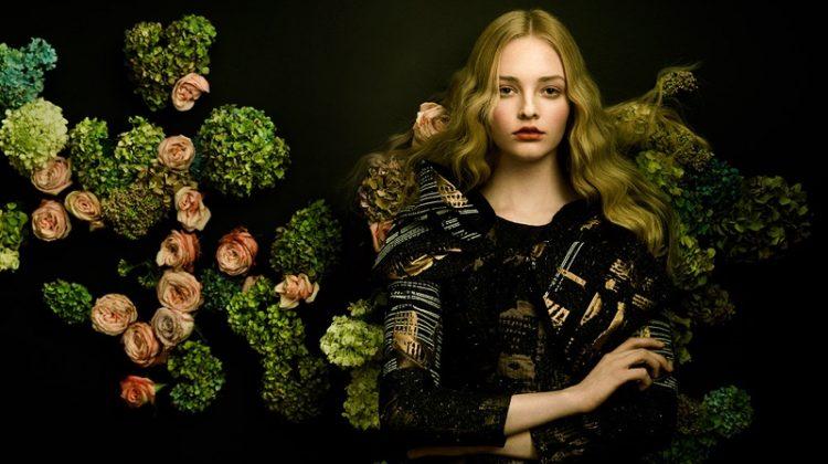 Olivia Hamilton Wears Elegant Dresses in Harper's Bazaar Vietnam