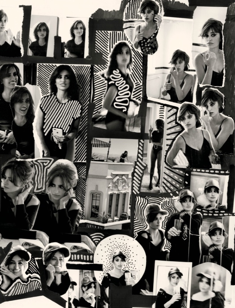 Penelope Cruz charms in a collage image