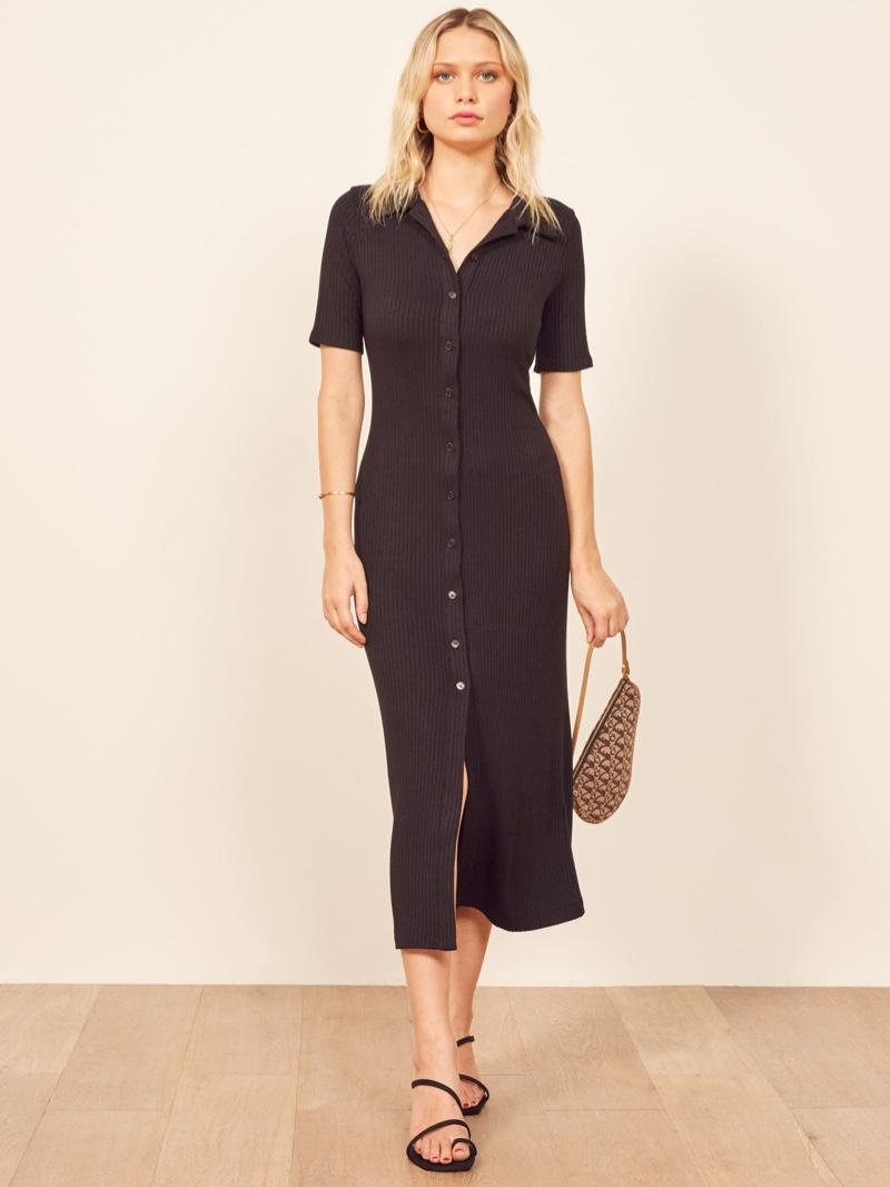Reformation Betty Dress in Black $118
