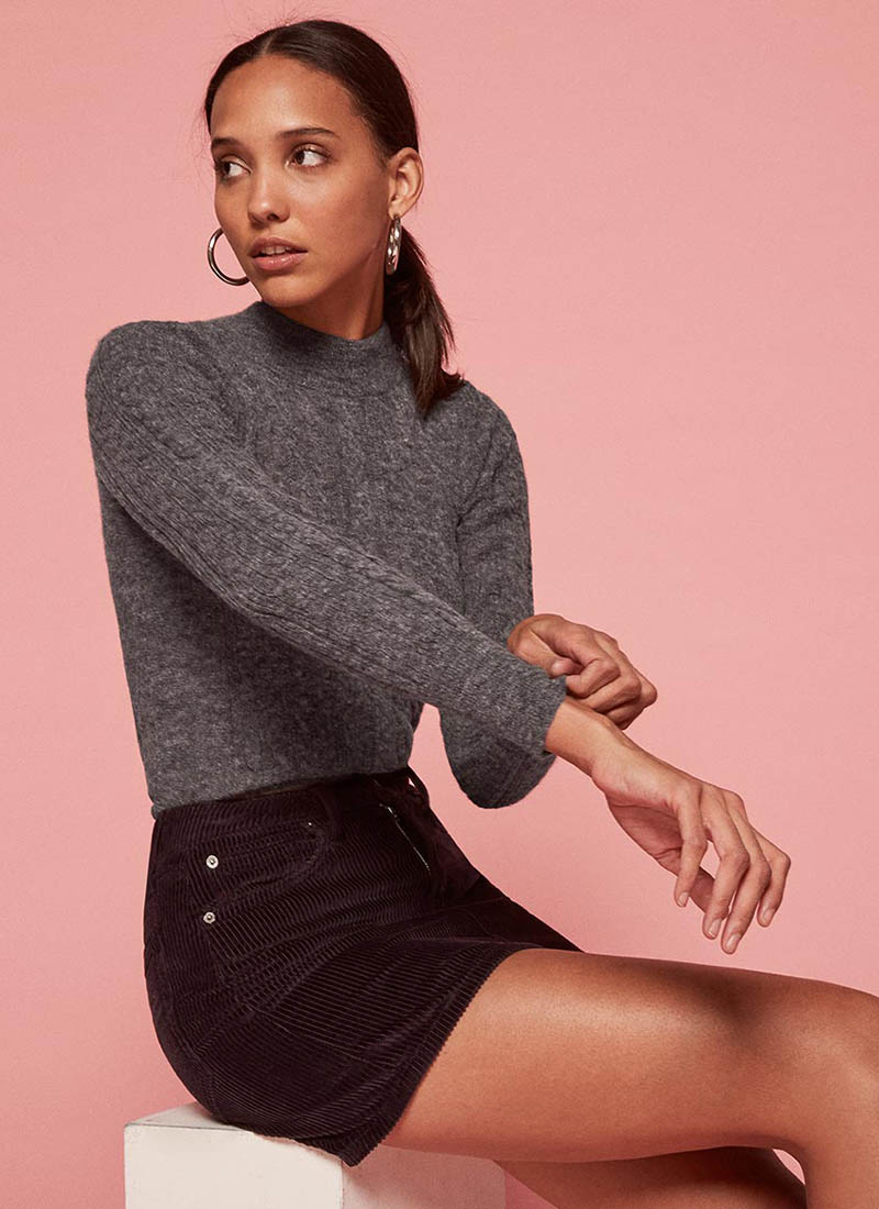 Reformation x Doen Dolly Sweater in Charcoal $208