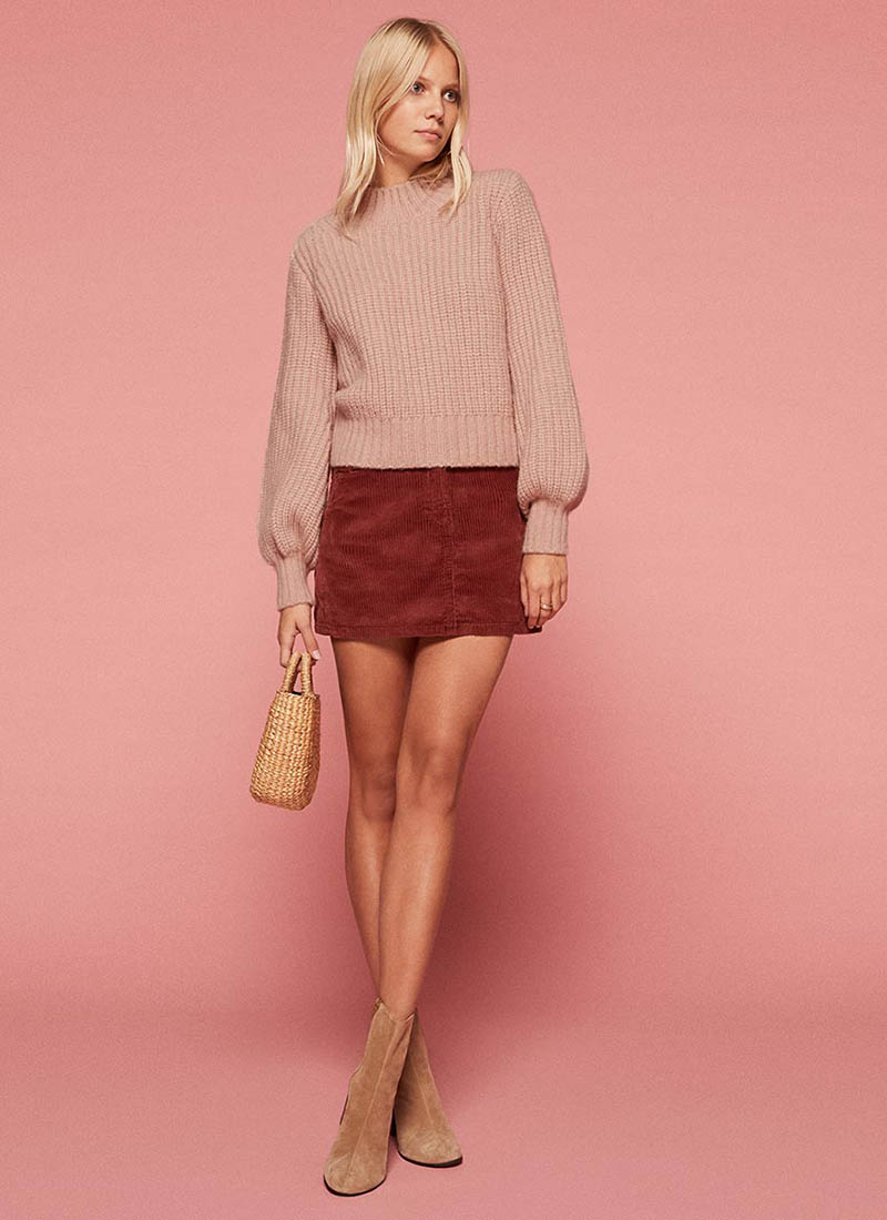 Reformation x Doen Lulu Sweater in Rose Dawn $248