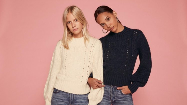 Reformation x Doen sweater collaboration