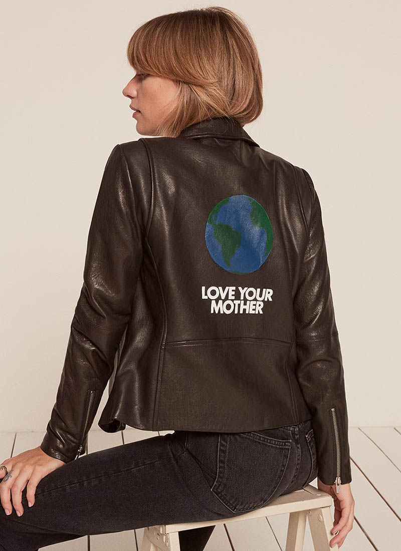 Reformation x VEDA Love Your Mother Leather Jacket $548