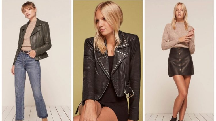 Reformation x VEDA leather collection