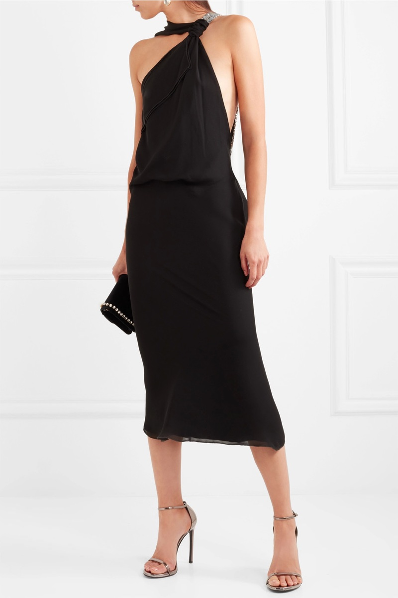 Roland Mouret Sequin-Embellished Silk-Georgette Midi Dress $2,880